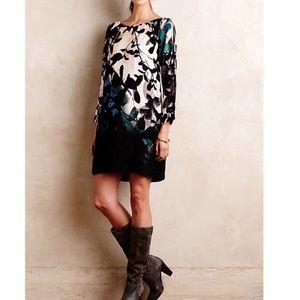 Maeve shaded gardens cold shoulder dress
